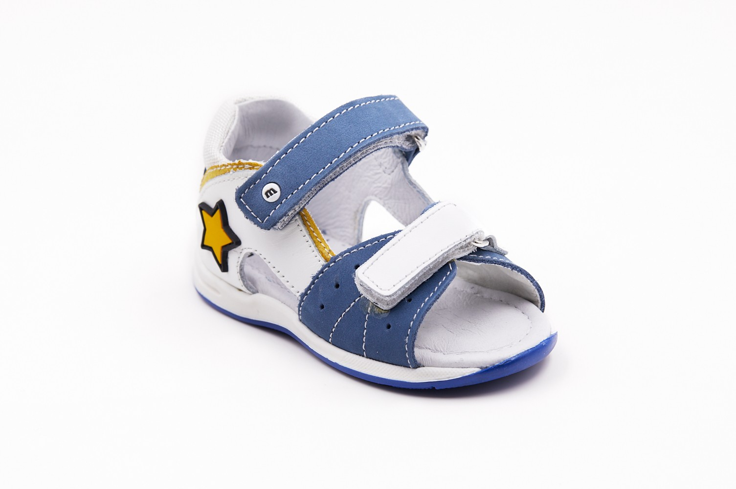 Sandale albastru/alb dublu scay