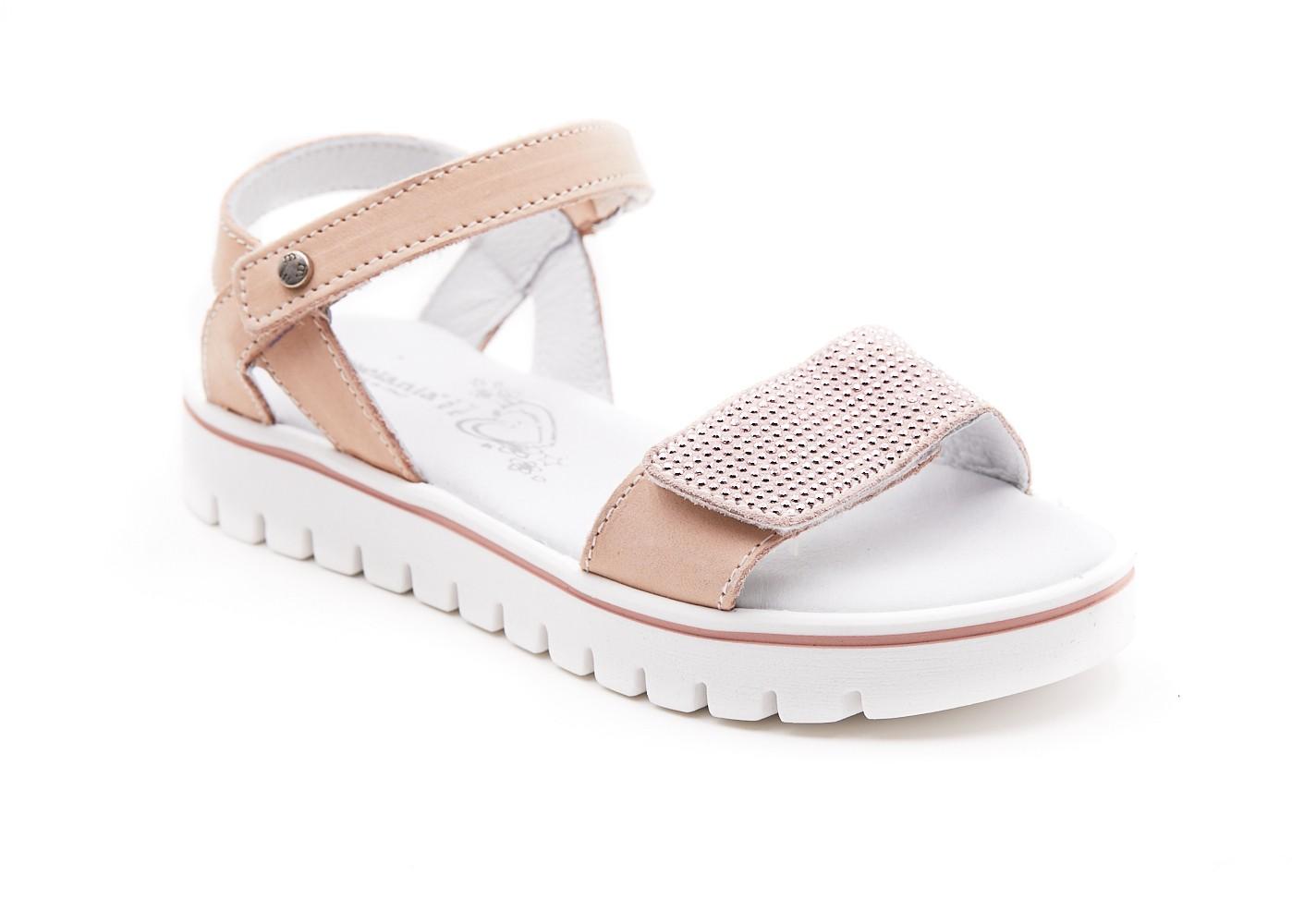 Sandale roz cu pietricele