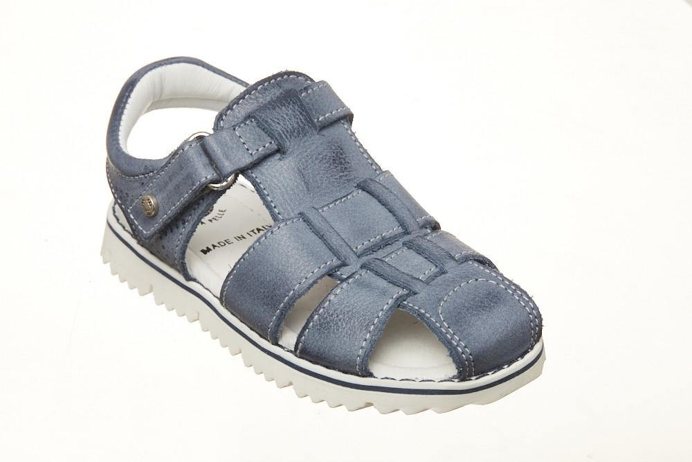 Sandale albastre inchise fata