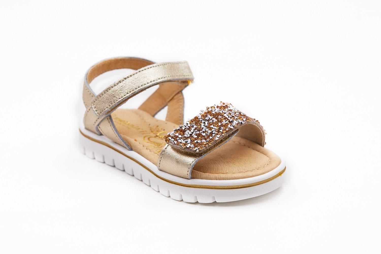 Sandale aurii cu pietricele