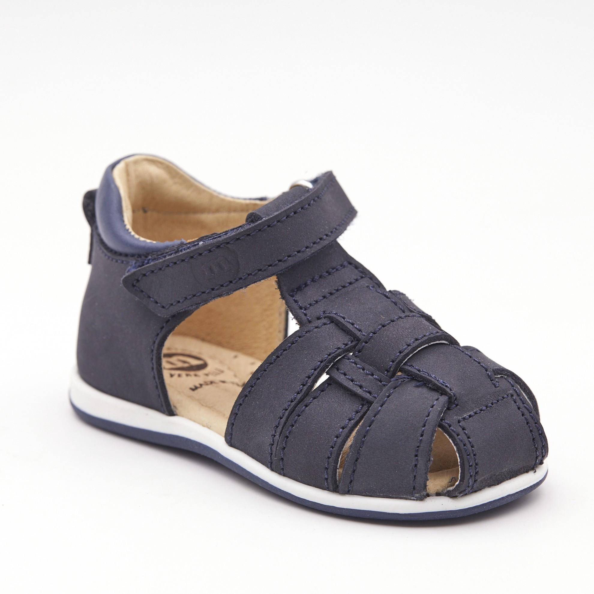 Sandale bleumarin cu elastic ascuns