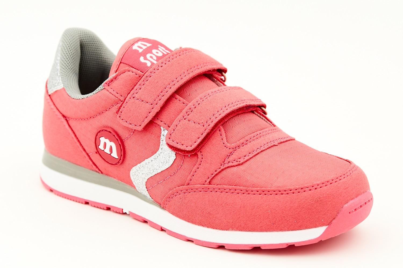 Pantofi sport roz inchis cu sclipici argintiu