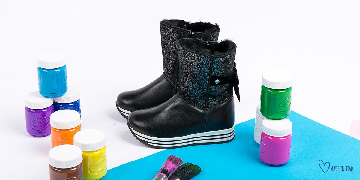 Cizme negre blana NATURALA