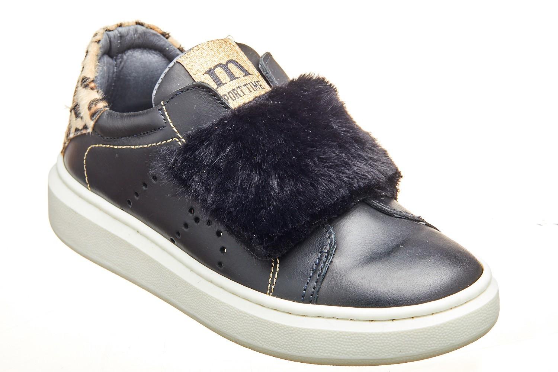 Pantofi casual negri bareta scay blanita