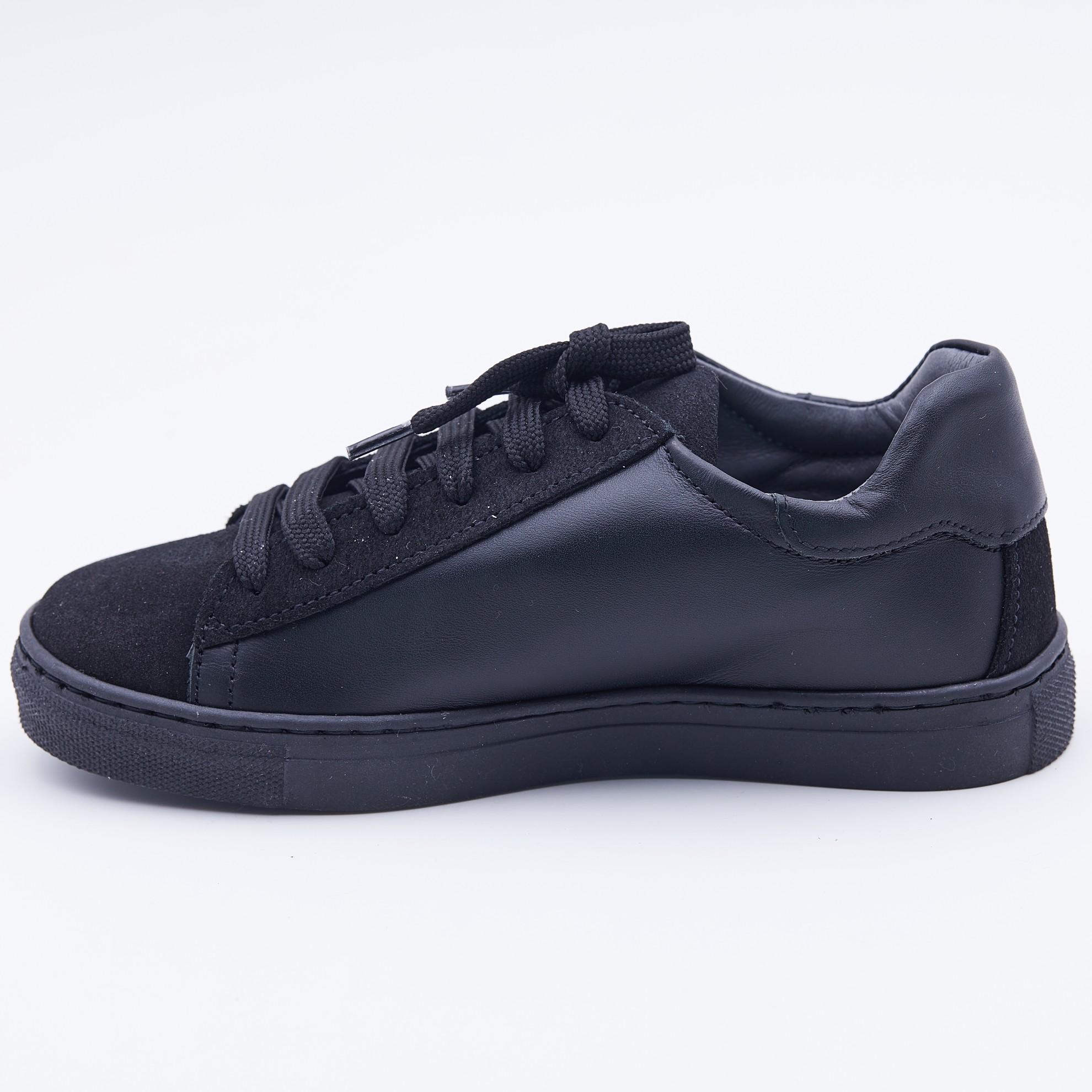 Pantofi casual negri scris
