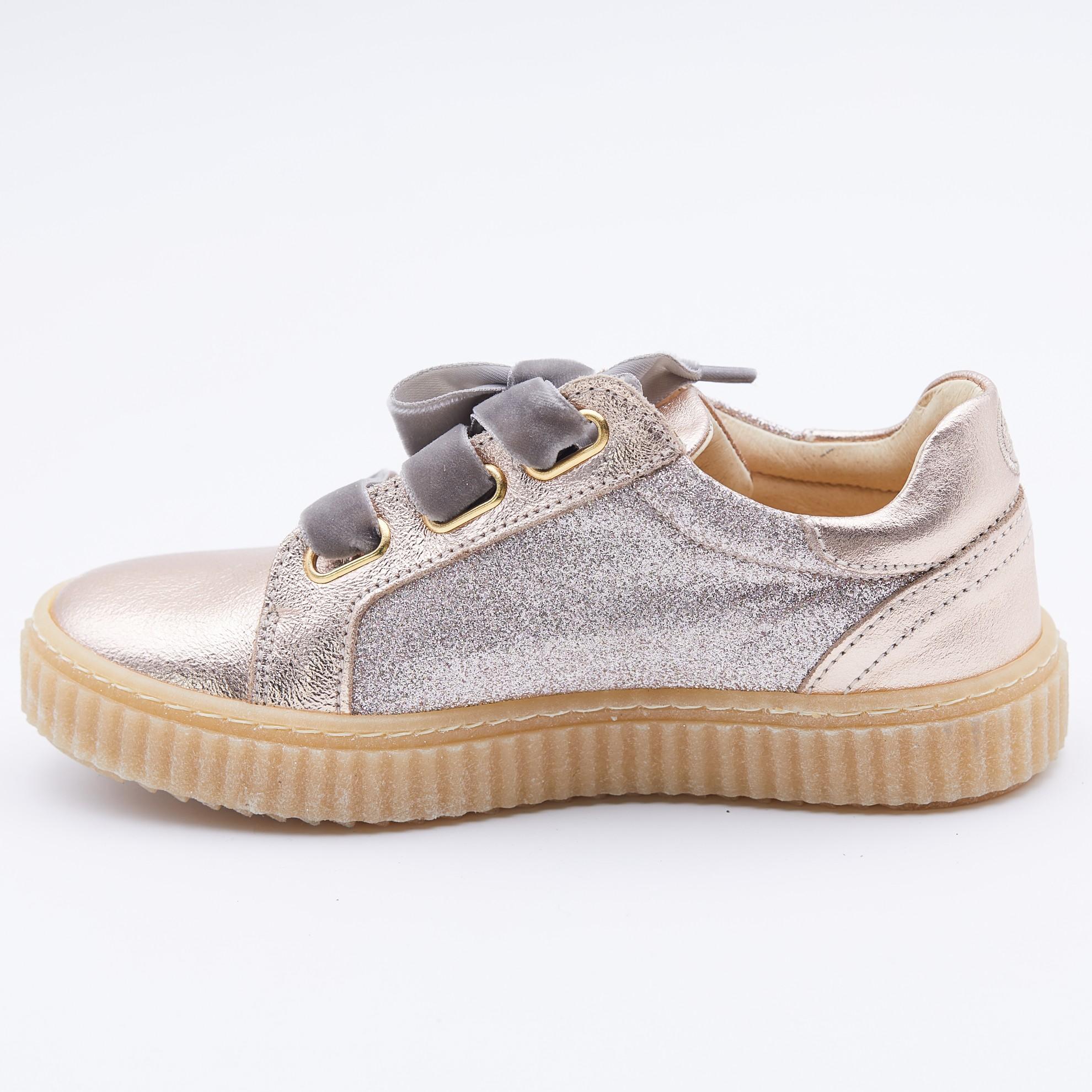 Pantofi casual aurii/sclipici
