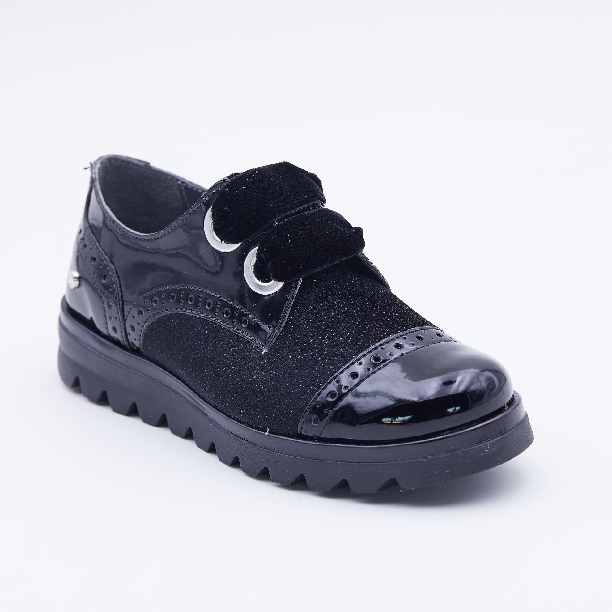 Pantofi eleganti cu siret catifea