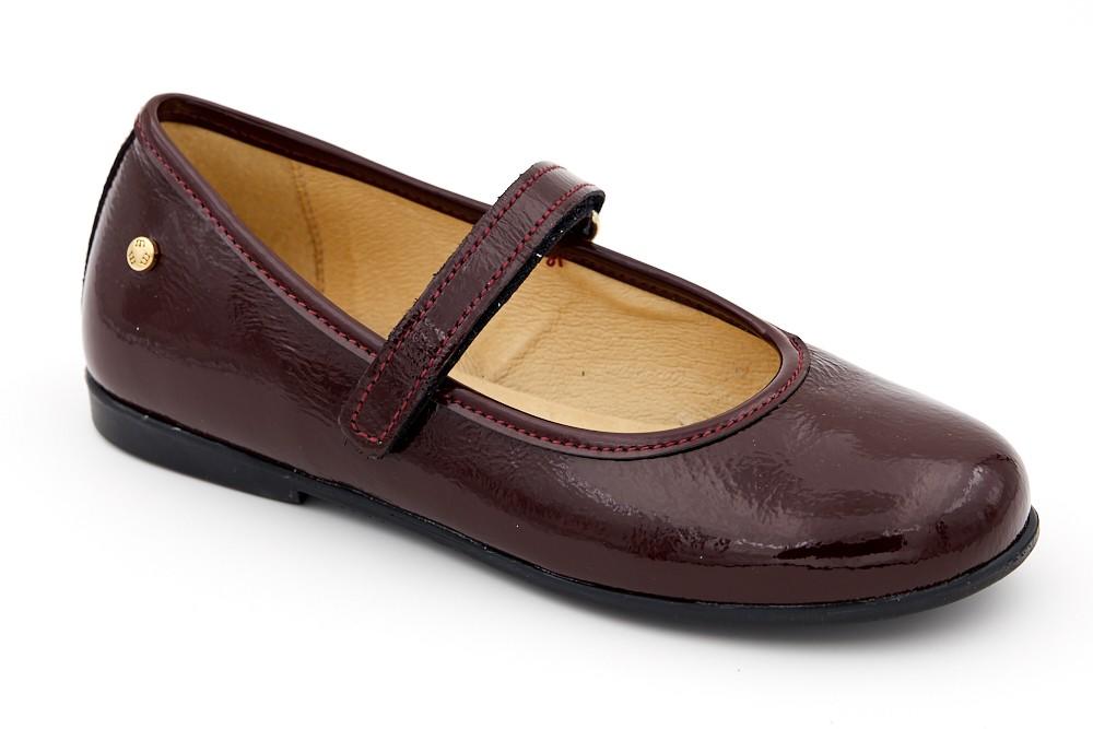 Pantofi simpli bordeaux piele lacuita