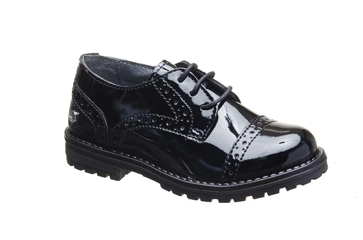Pantofi elecanti negrii lac