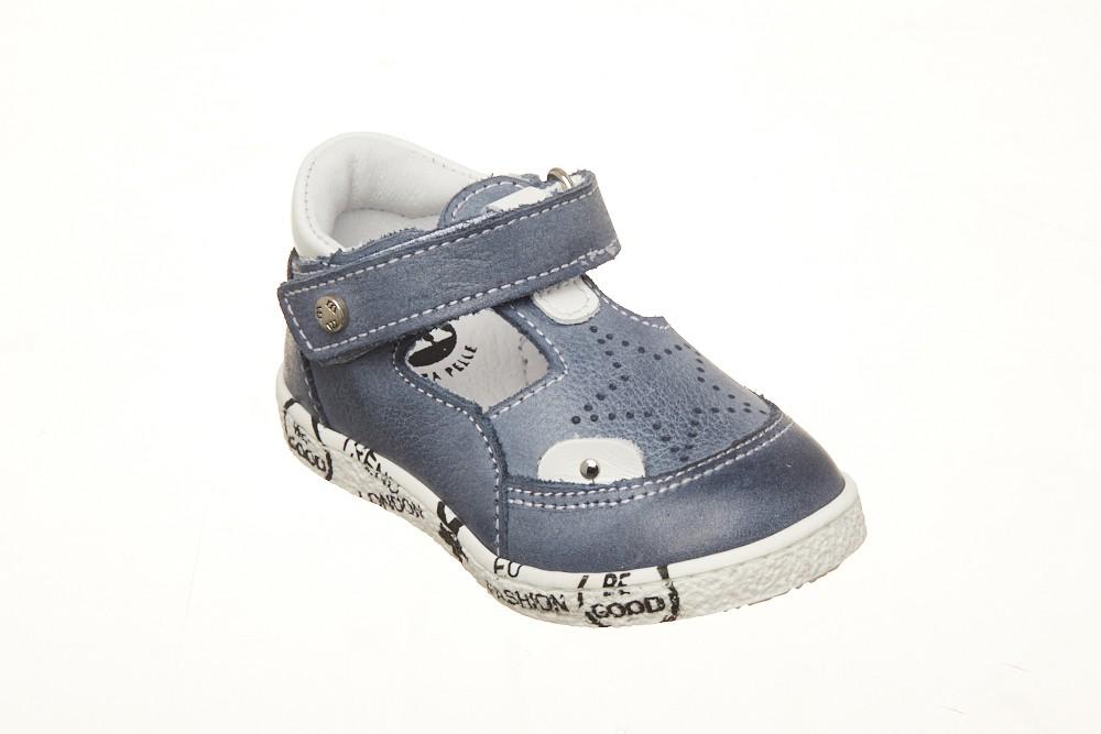 Pantofi Melania decupati blu talpa scrisa