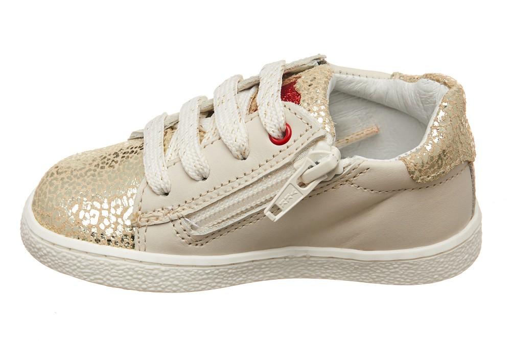 Pantofi Melania SuperFlex crem/aurii