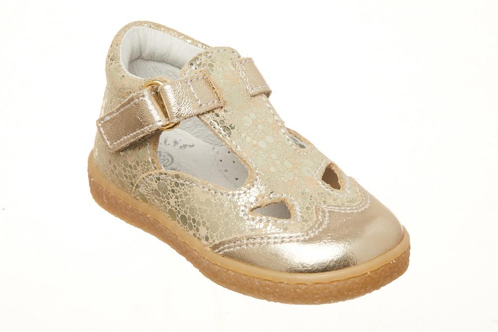 Pantofi decupati Melania aurii