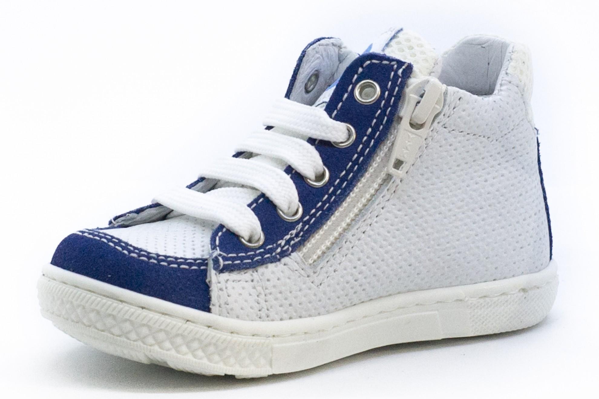 Bascheti albi/albastru