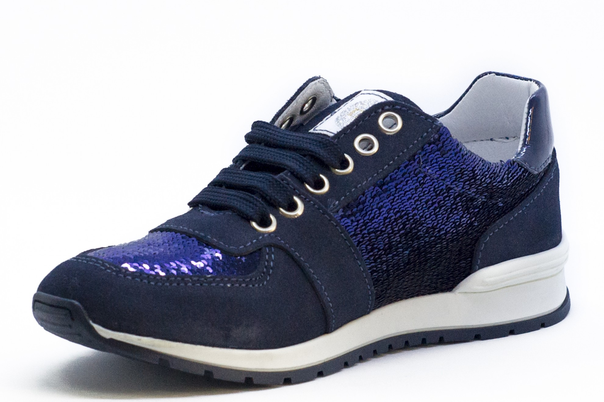 Pantofi sport/casual moderni blu cu paiete
