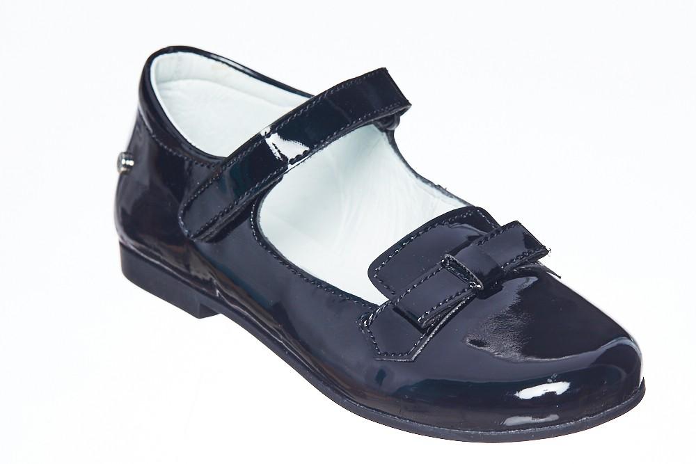 Pantofi ELEGANTI lac negru cu fundita