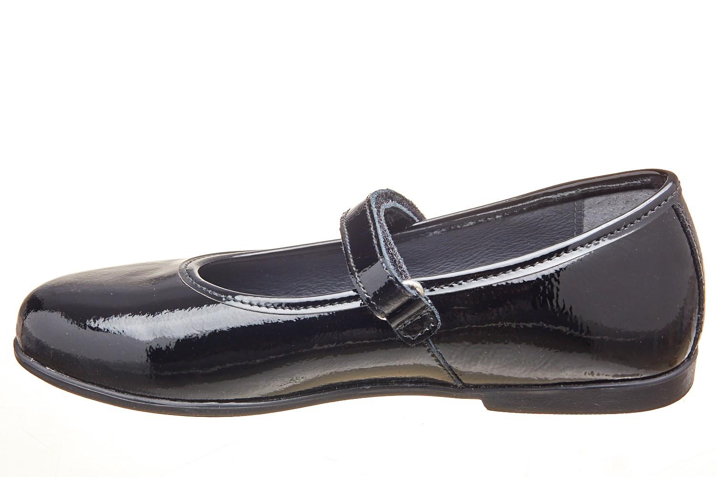 Pantofi negri lacuiti bareta scai